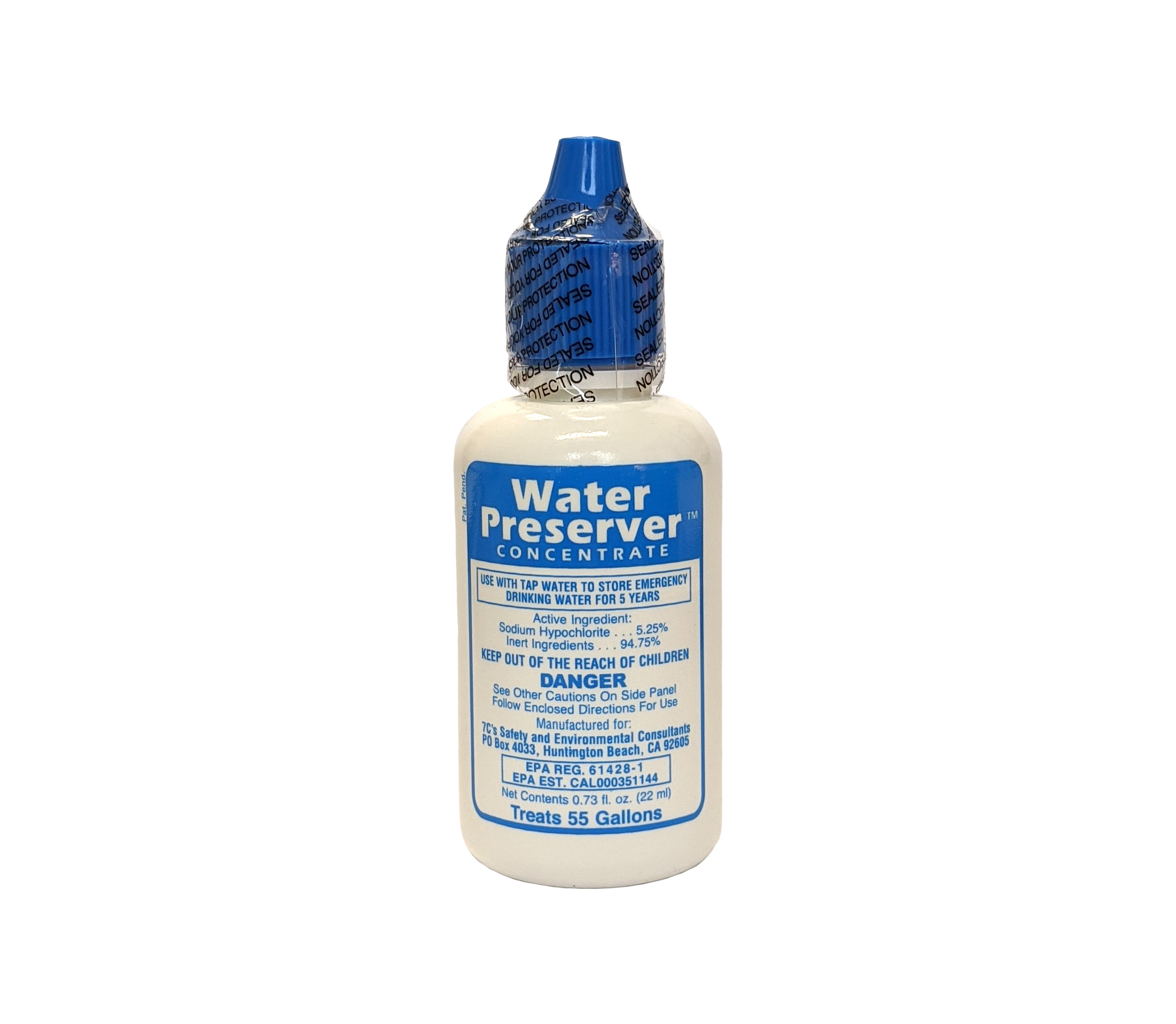 Water Preserver Concentrate For 55-Gallon Water Barrels