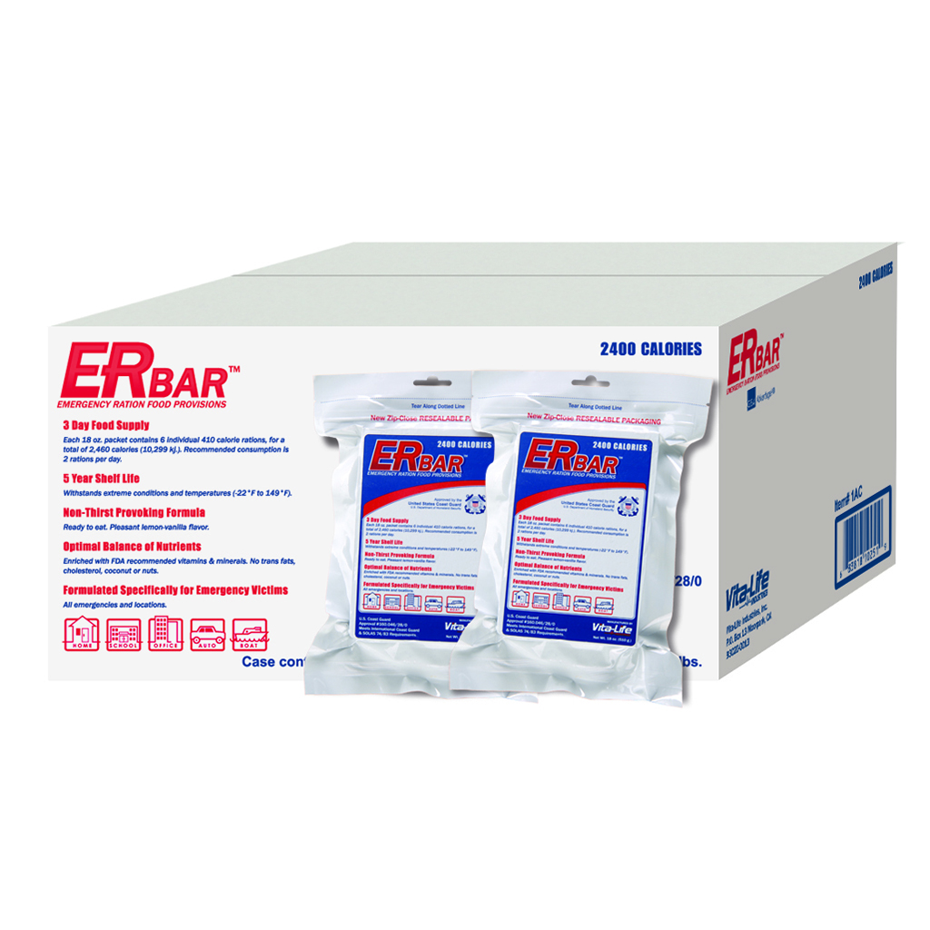 ER™ 2400 Calorie Emergency Food Bar - 1 Case