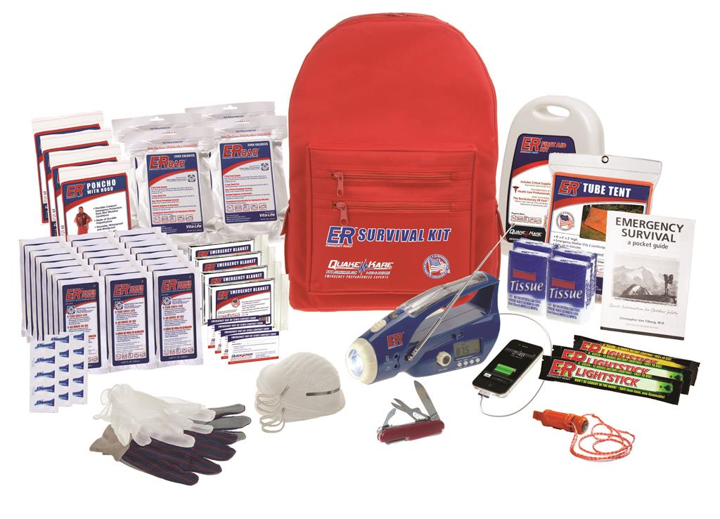 ER™ 4 Person Ultimate Deluxe Backpack Survival Kit