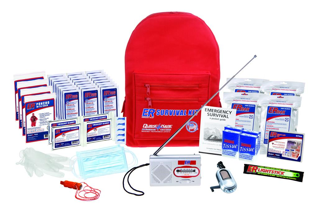 ER™ 4 Person Standard Backpack Survival Kit