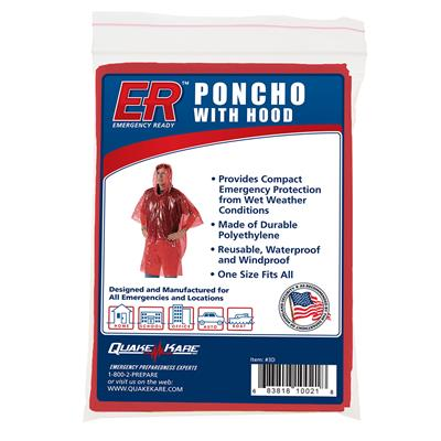 ER™ Rain Poncho with Hood