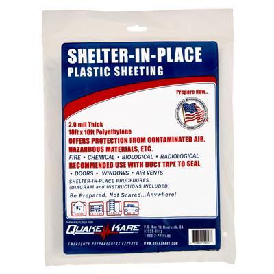 ER™ Shelter-in-Place Plastic Sheeting