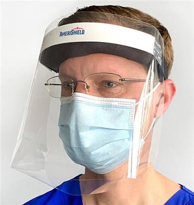 Clear Protective Face Shield - Pack of 6